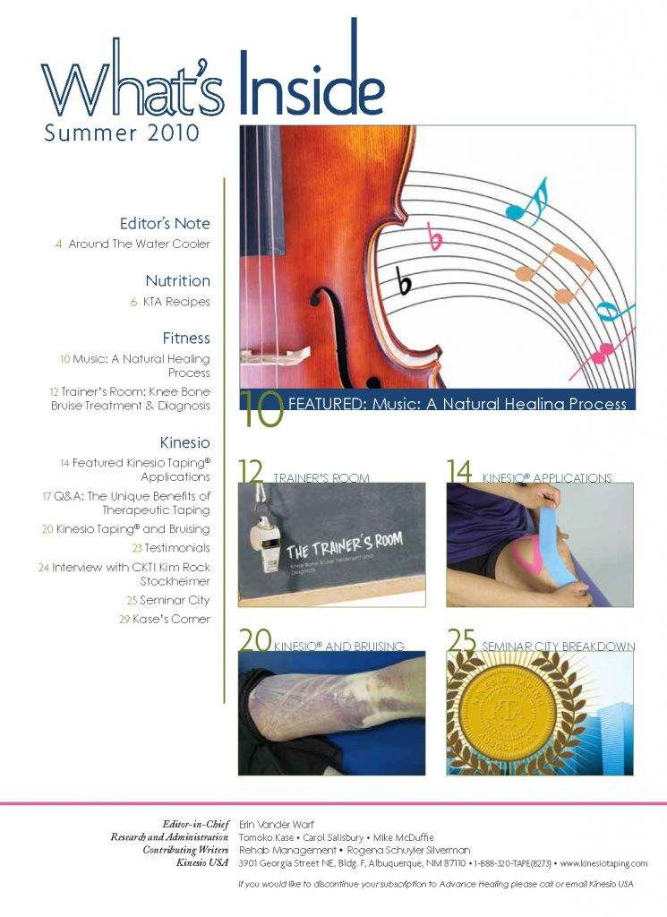 Kinesio-Tape-10-AH-Summer Table of Contents